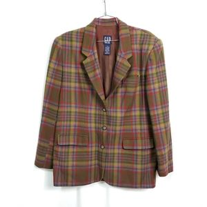Vintage GAP Plaid Wool Oversize Blazer Jacket